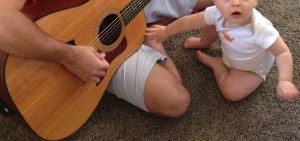 Play guitar for Baby